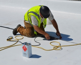 Commercial Roofer doing repairs